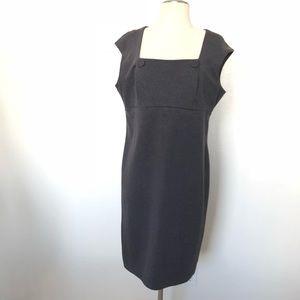 Calvin Klein Career Dress Gray Size 10